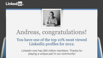 10% most viewed LinkedIn profiles for 2012